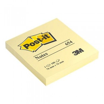 NOTAS ADHESIVAS 76X76 MM. 100 HOJAS POST-IT