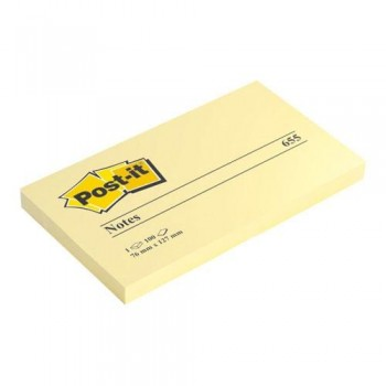 NOTAS ADHESIVAS 76X127 MM. 100 HOJAS POST-IT