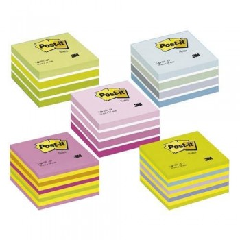 NOTAS ADHESIVAS CUBO 76X76X45MM. NEÓN ROSA 450 HOJAS POST-IT