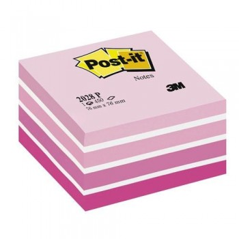 NOTAS ADHESIVAS CUBO 76X76X45MM. PASTEL ROSA 450 HOJAS POST-IT