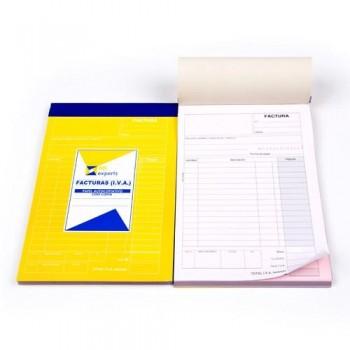 TALONARIO FACTURA DES.IVA 150x210MM (1+1) ESENCIALES