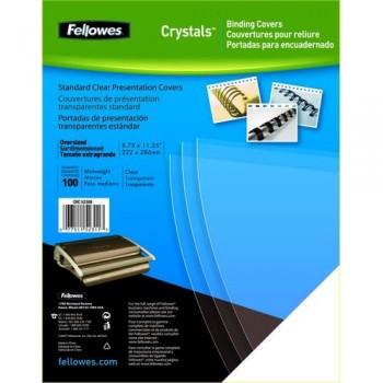 Tapas encuadernación A4 PVC 200 micras transparente 100 un. Fellowes ESENCIALES