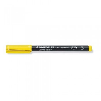 ROTULADOR PERMANENTE PUNTA S 0,4 MM AMARILLO LUMOCOLOR 313 SUPERFINO STAEDTLER