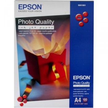 PAPEL FOTO A4 102 GR. 100 HOJAS PHOTO QUALITY INKJET PAPER EPSON S041061