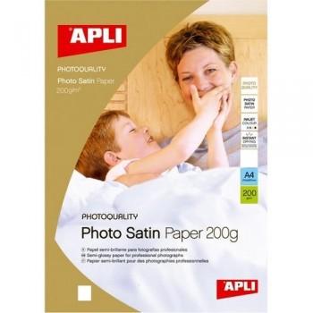 PAPEL FOTO A4 200 GR. 60 HOJAS SATINADO PARA INKJET APLI