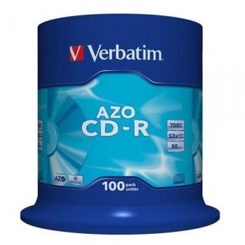 CD-R 700MB 52X SUPER AZO 100 UNIDADES VERBATIM