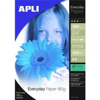 PAPEL FOTO A4 180G 100HOJAS EVERYDAY PARA INKJET ESENCIALES