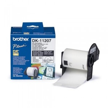 ETIQUETAS PRECORTADAS PARA CD/DVD 58 X 58 MM.PARA GAMA QL BROTHER