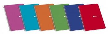 Cuaderno espiral folio 80 hojas cuadricula 4x4 60 gramos con margen Enri ESENCIALES
