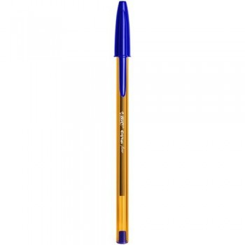 Bolígrafo tinta aceite punta 0,8mm azul Bic Cristal Fine ESENCIALES