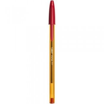 Bolígrafo tinta aceite punta 0,8mm rojo Bic Cristal Fine ESENCIALES
