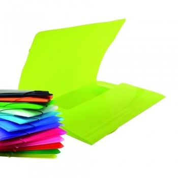 CARPETA GOMAS A4 3 SOLAPAS COLOR LINE OFFICE BOX