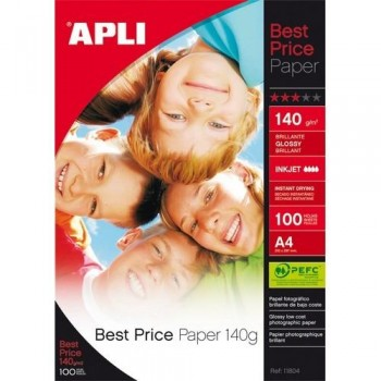 PAPEL FOTO A4 140 GR. 100 HOJAS BRILLANTE BEST PRI ESENCIALES
