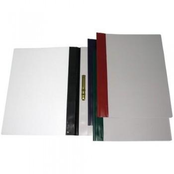 Dossier fastener Folio PVC 150 micras lomo rojo ESENCIALES