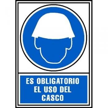 SE?AL PVC NORMALIZADA   OBLIGATORIO EL USO DE CASCO   210X297 AZUL ARCHIVO 2000