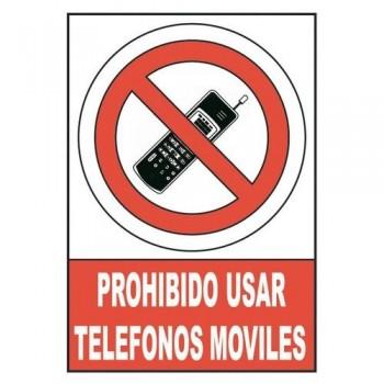 SE?AL PVC NORMALIZADA   PROHIBIDO UTILIZAR TELEFONOS MOVILES   210X297 ROJO  ARCHIVO 2000