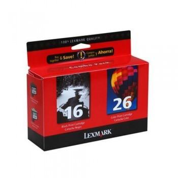 LEXMARK CARTUCHO TINTA N16+N26 NEGRO + COLOR