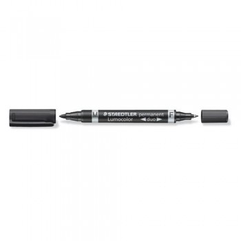 ROTULADOR PERMANENTE DOBLE PUNTA M Y F, COLOR NEGRO STAEDTLER
