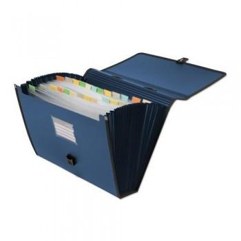 MALETIN CLASIFICADOR 24 DIVISIONES COLOR AZUL OFFICE BOX