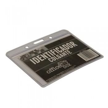 Identificador colgante transparente 98x60mm. ESENCIALES