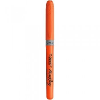 Marcador fluorescente punta biselada 1,6-3,4mm. Highlighter Grip naranja Bic ESENCIALES