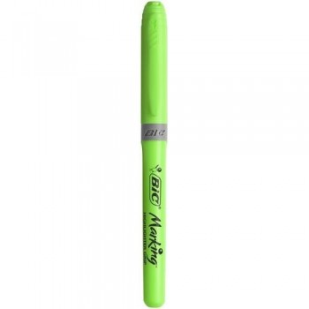 Marcador fluorescente punta biselada 1,6-3,4mm. Highlighter Grip verde Bic ESENCIALES