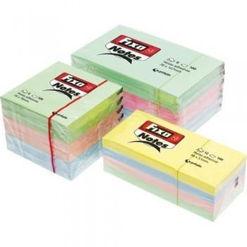 Notas adhesivas 76x127 mm.100 hojas  pastel Fixo ESENCIALES