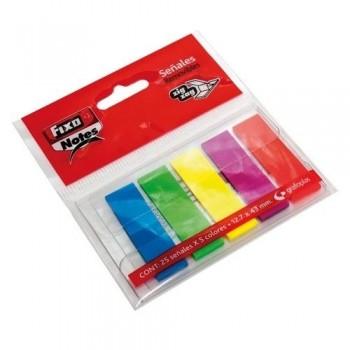 Índice marcador PET adhesivo 5 x 25h 13x43mm neón Fixo ESENCIALES