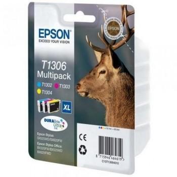 EPSON CARTUCHO TINTA C13T13064012 Nº T1306XL C/M/Y