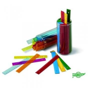 Regla colores opacos 16 cms. Faibo *