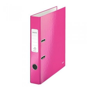 ARCHIVADOR A4 50MM FUCSIA METALIZADO WOW LEITZ
