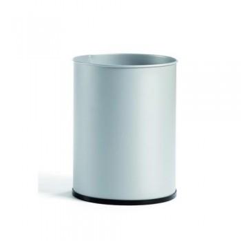 Papelera metálica 27 l. 39,5x29,5 cm. Negro. ESENCIALES