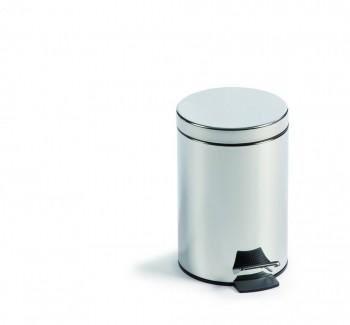 Cubo pedal metálico Inox 32 x 21 cm. ESENCIALES