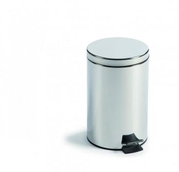 Cubo pedal metálico Inox 39 x 25 cm. ESENCIALES
