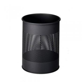 Papelera metálica redonda  15/P 165 - 15 litros - perforada Durable antracita ESENCIALES