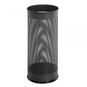 Paragüero redondo metálico  28,5 litros - perforado antracita Durable ESENCIALES
