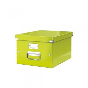 CAJA ARCHIVO UNIVERSAL MEDIANA (A4) 281X200X369MM LEITZ VERDE CLICK & STORE