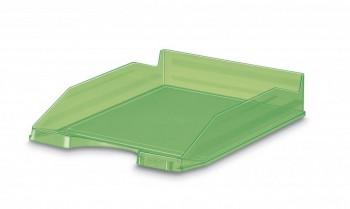 Bandeja apilable transparente fluor verde 350x250x65mm Faibo ESENCIALES