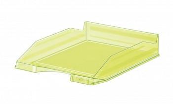 Bandeja apilable transparente fluor amarillo 350x250x65mm Faibo ESENCIALES