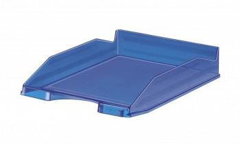 Bandeja apilable transparente fluor azul oscuro 350x250x65 Faibo ESENCIALES