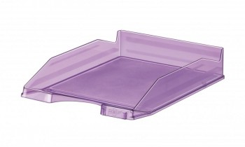 Bandeja apilable transparente fluor violeta 350x250x65mm Faibo ESENCIALES