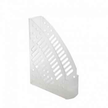 Revistero plástico transparente cristal 320x245x75mm Faibo ESENCIALES