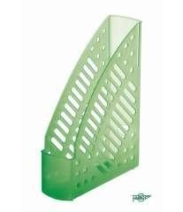 Revistero plástico transparente fluor verde 320x245x75mm Faibo ESENCIALES