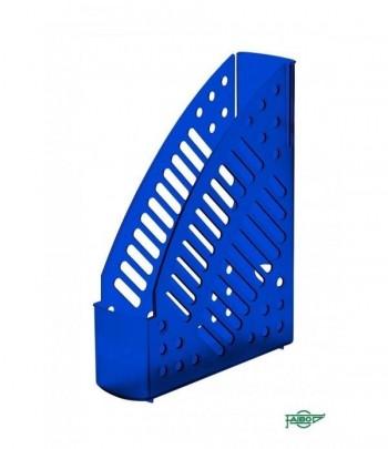 Revistero plástico transparente fluor azul 320x245x75mm Faibo ESENCIALES