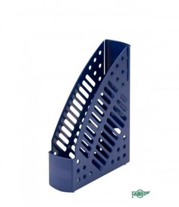 Revistero plástico transparente fluor azul oscuro 320x245x75mm Faibo ESENCIALES