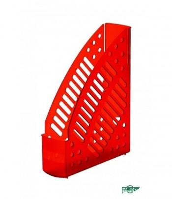 Revistero plástico transparente fluor rojo 320x245x75mm Faibo ESENCIALES