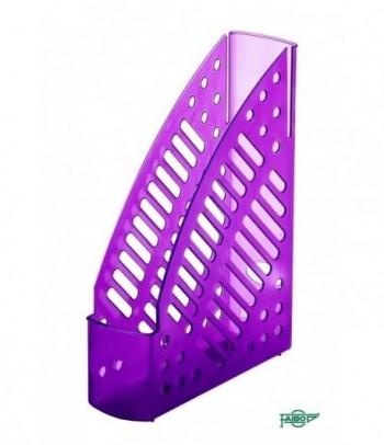 Revistero plástico transparente fluor violeta 320x245x75mm Faibo ESENCIALES