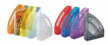 Revisteros plástico transparentes fluor surtido 320x245x75mm 10 un.colores surtidos Faibo ESENCIALES