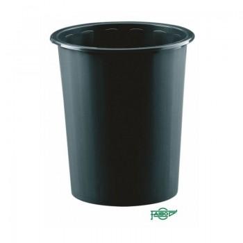 Papelera plástico 14l Faibo negro ESENCIALES