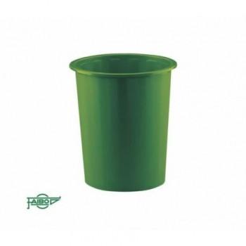 Papelera plástico 14l Faibo verde ESENCIALES